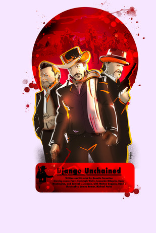 Django Unchained by Vibhu Kumar, Digital Digital Art, Digital Print on Enhanced Matt, French Lilac color