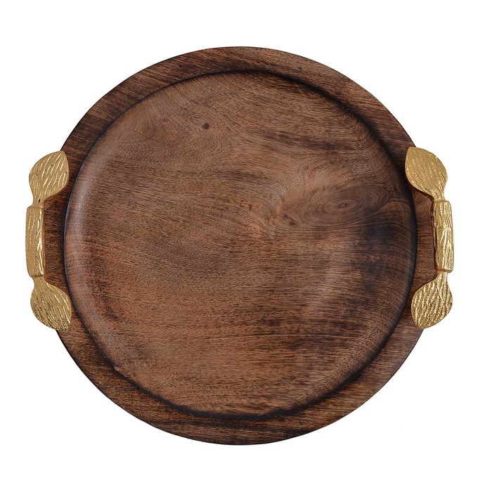 Round Wooden Tray By The Yellow Door