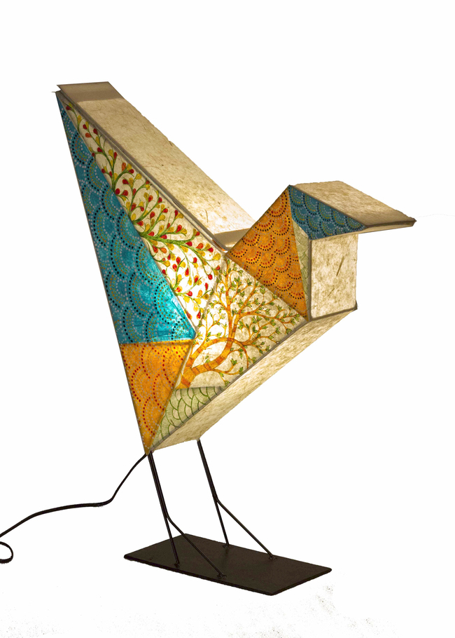 Bird paper lamp by sahil   sarthak