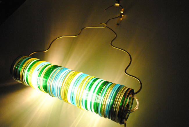 Bamboo choori lamp in jaipur hanger