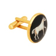 SIGNATURE CONSTABLES HORSE CUFFLINKS by Ikka Dukka Studio Pvt Ltd, Contemporary Button/Cufflink