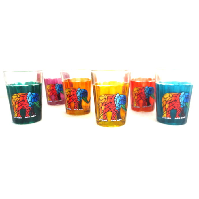 Quirky kitsch cutting chai set- Elephant Tales Serveware By Pyjama Party Studio