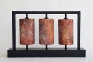 Prayer Wheels by Shweta Mansingka, Decorative Sculpture | 3D, Ceramic, Gray color