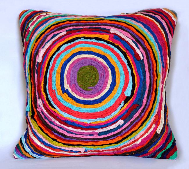 Chakri   multicolor    cushion cover  16 x 16  4