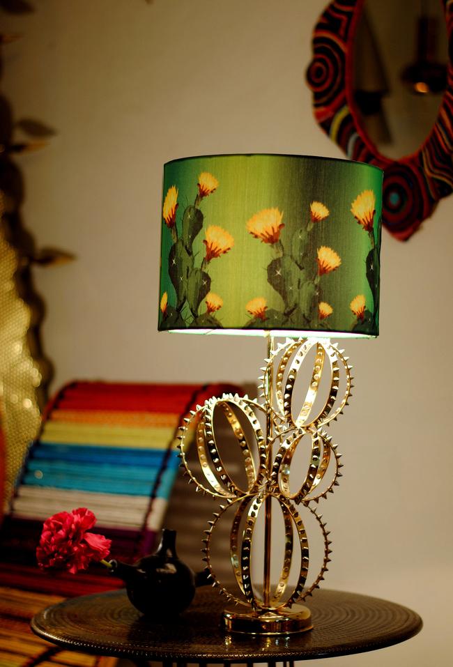 Cactus lamp by sahil   sarthak  yellow