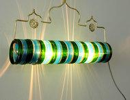 Thief of Baghdad Choori Lamp : Bamboo Green Wall Decor By Sahil & Sarthak