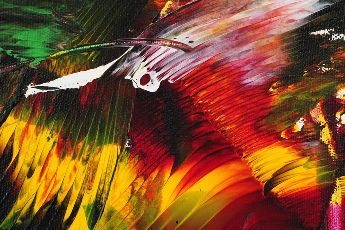 Angelic Realm by Bharat Thakur, Abstract Painting, Acrylic on Canvas, Brown color