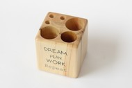 IVEI Wooden Pen stand Cube - dream Decorative Box By i-value-every-idea