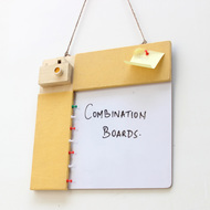 IVEI Pin board + whiteboard, Combination board Camera - Yellow Stationery By i-value-every-idea