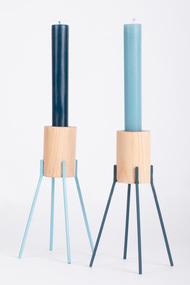 Fyre - Large2 [Light Blue] Candle Stand By Rayden Design Studio
