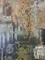 Acres by Sheetal Singh, Abstract Painting, Acrylic on Canvas, Brown color