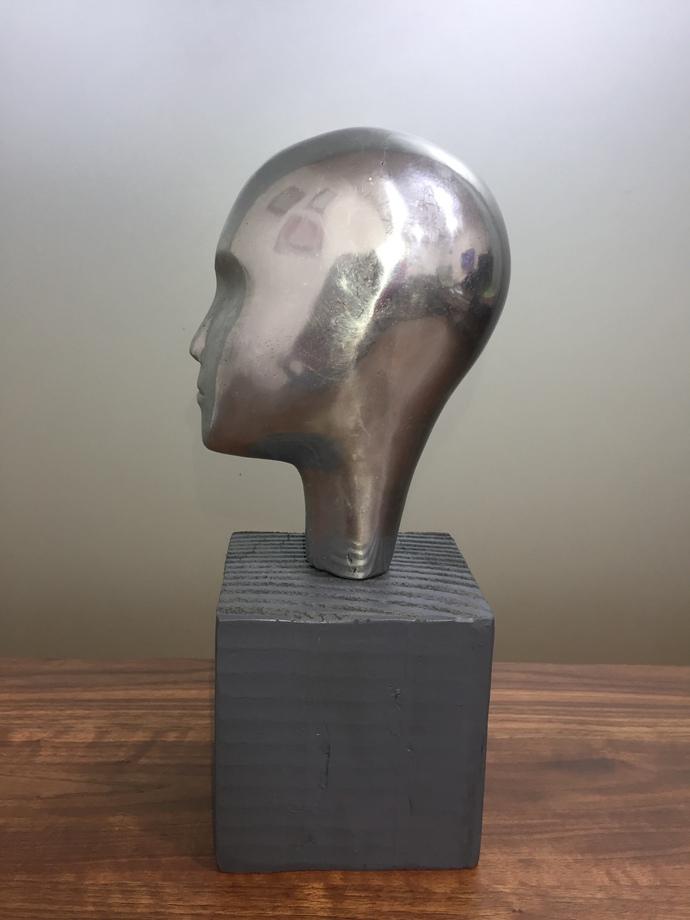 Dreamer by Vernika, Art Deco Sculpture | 3D, Metal, Brown color