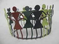 Folk Dance by Jignesh Jariwala, Art Deco Sculpture | 3D, Metal, Gray color