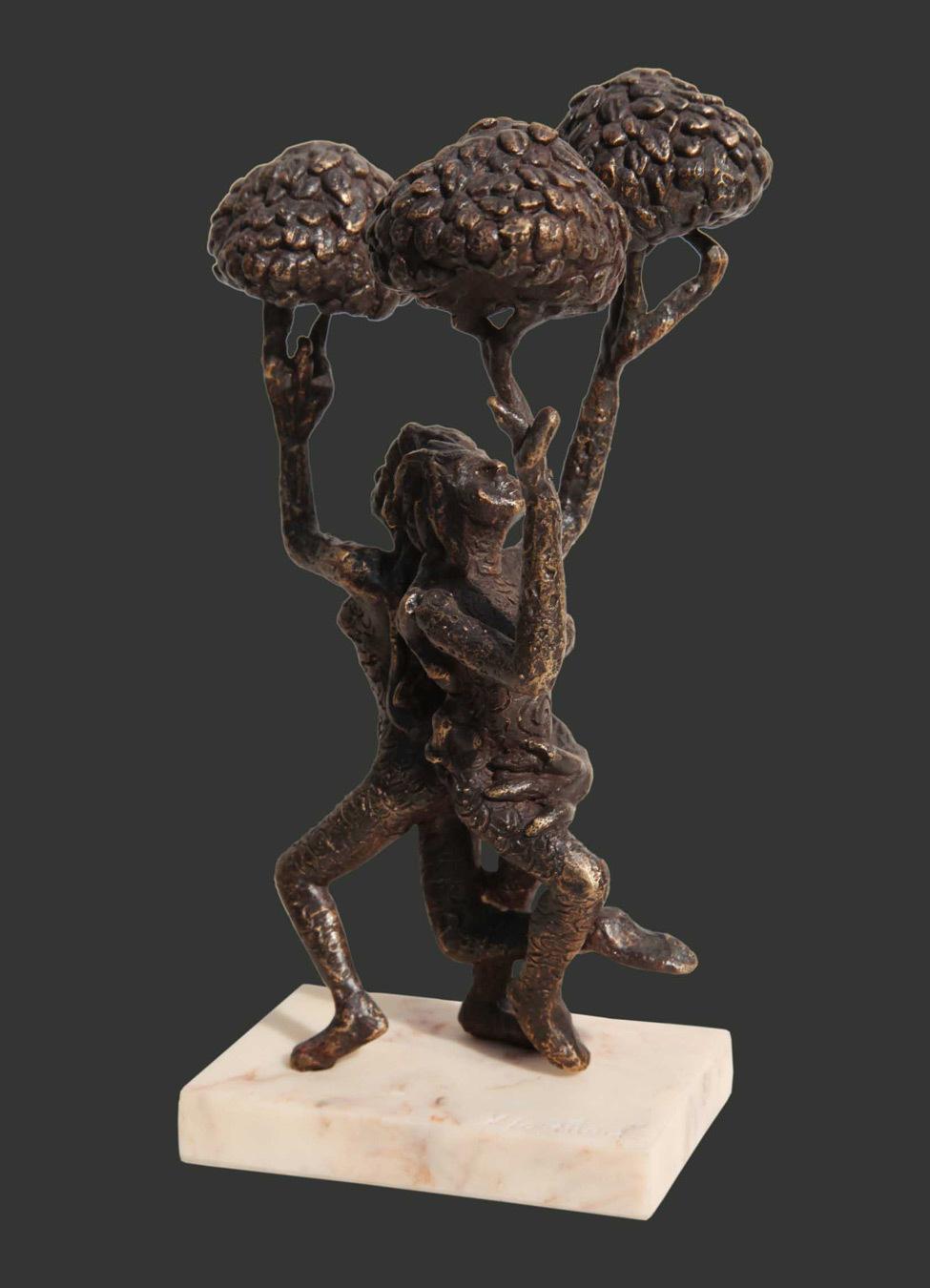 H8.5xl5.5xw4.5''inches bronze sculpture 2018 a420d