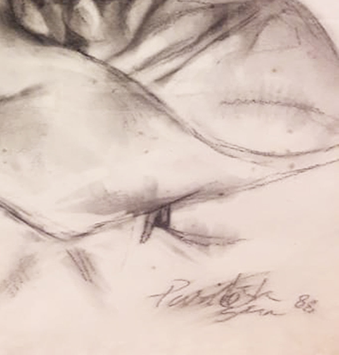 Paritosh sen charcoal on paper 30x22 inches 1988   detail 4