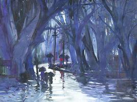 Rainy Season - Panchgani - 6 by Sunil Kale, , , Blue color