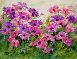Harmony In Petunia-1 by Swati Kale, , , Purple color