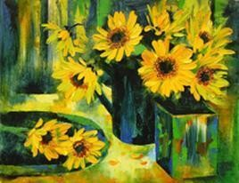 My Flowers - 4 by Swati Kale, , , Green color