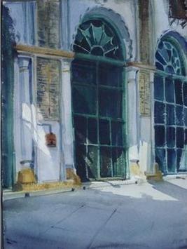 Entrance by Sumantra Mukherjee, , , Green color