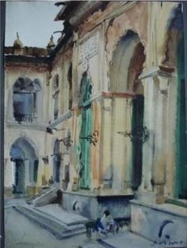 Main Door by Sumantra Mukherjee, , , Green color