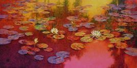 Waterlilies-14 by Swati Kale, , , Brown color