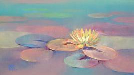 Waterlilies - 19 by Swati Kale, , , Brown color