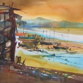 Ocean Moods - 2 by Sunil Kale, , , Brown color