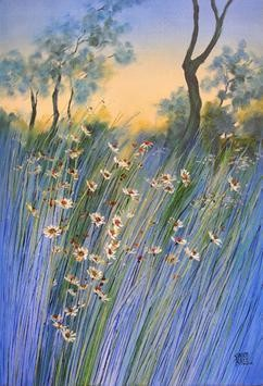 Wild Beauty - 3 by Swati Kale, , , Blue color