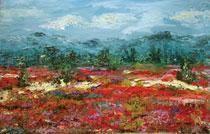 Poppy & Vetch Fields by Animesh Roy, , , Brown color