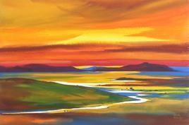 River Krishna - 1 by Sunil Kale, , , Brown color