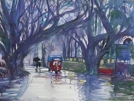 Rainy Season - Panchgani - 4 by Sunil Kale, , , Blue color