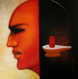 Untitled by Anand Dharmadhikari, , , Black color