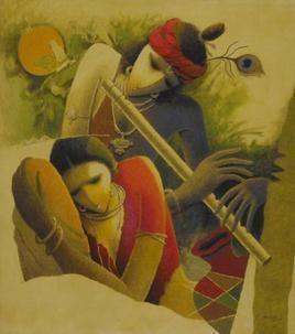 Untitled by Surendra Pal Singh, , , Brown color
