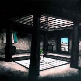 Untitled by K R Santhanakrishnan, , , Gray color