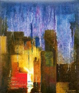 In A Rainy Night by Aditi Chakraborty, , , Brown color