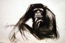 Thinker II by Sumantra Mukherjee, , , Gray color