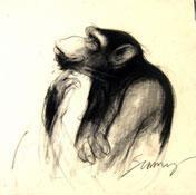 Thinker III by Sumantra Mukherjee, , , Beige color
