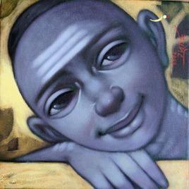 Untitled by Apet Pramod Mahadev, , , Blue color