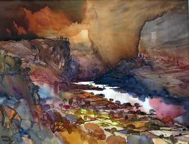 Panchgani Mindscape by Sunil Kale, , , Brown color
