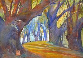 Street Scene - 1 by Sunil Kale, , , Brown color