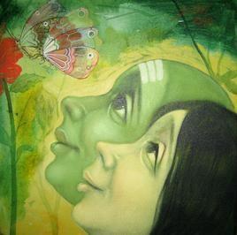 lovers by Apet Pramod Mahadev, , , Green color
