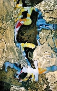 Untitled2 by Mona Raghuwanshi, Painting, Mixed Media on Paper, Beige color
