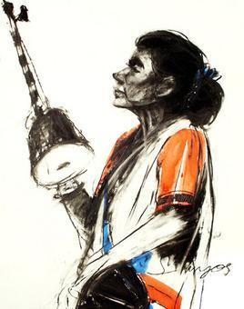 Untitled-V by Sumantra Mukherjee, , , White color