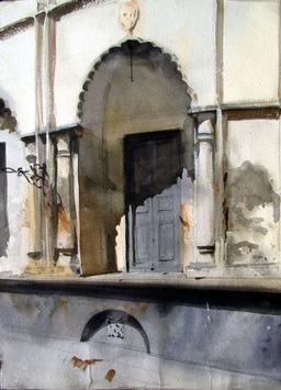 Light III by Sumantra Mukherjee, , , Gray color