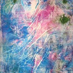 Love Waits by Hufreesh Dumasia Chopra, Painting, Acrylic on Canvas, Blue color