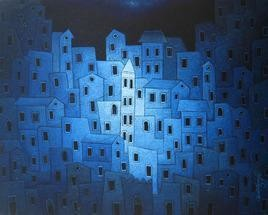 Moonlight by Suresh Gulage, , , Blue color