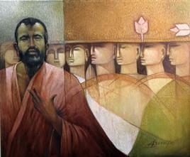 Pioneer of Light by Arun Kumar Samadder, , , Brown color