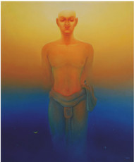 Eternity by Animesh Nandi, Surrealism, Surrealism Painting, Oil on Canvas, Blue color