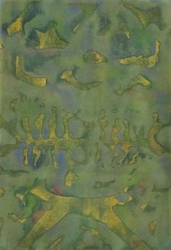 Untitled 160 by Mahesh Jagtap, Painting, Watercolor on Paper, Green color