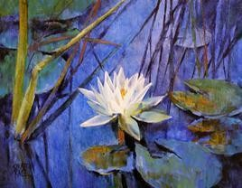 Water Lilies - 69 by Swati Kale, , , Blue color